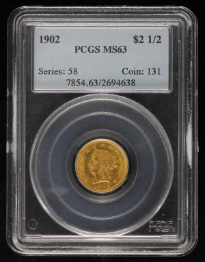 Obverse of this 1902 Liberty Head $2.5 PCGS MS-63