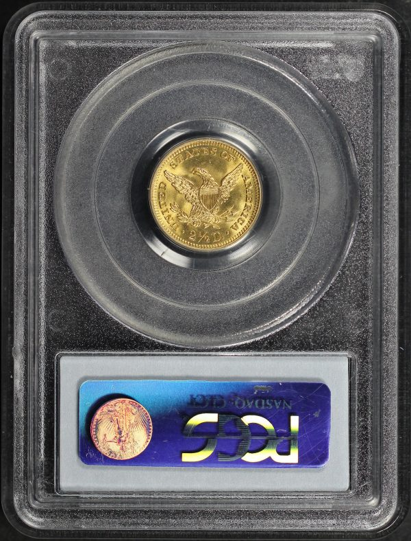 Reverse of this 1905 Liberty Head $2.5 PCGS MS-64 CAC