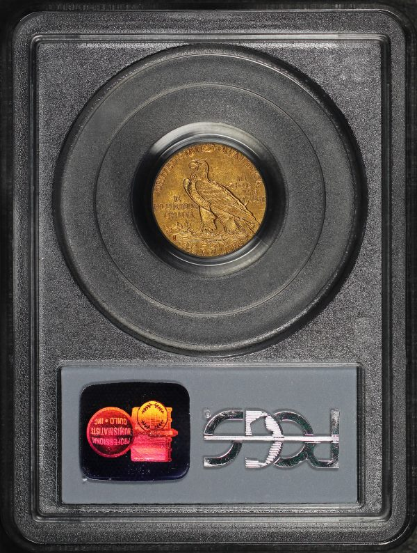 Reverse of this 1909 Indian $2.5 PCGS AU-53