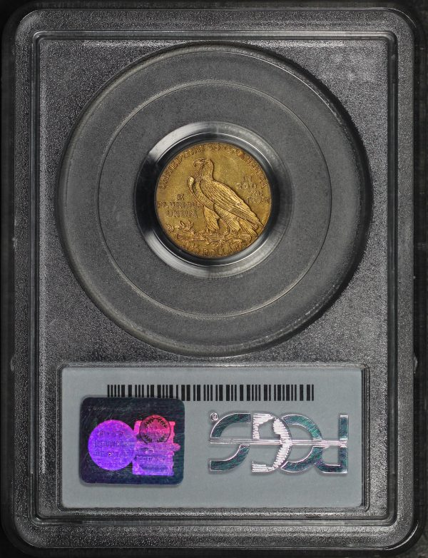 Reverse of this 1909 Indian $2.5 PCGS AU-55