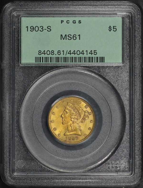 Obverse of this 1903-S Liberty Head $5 PCGS MS-61