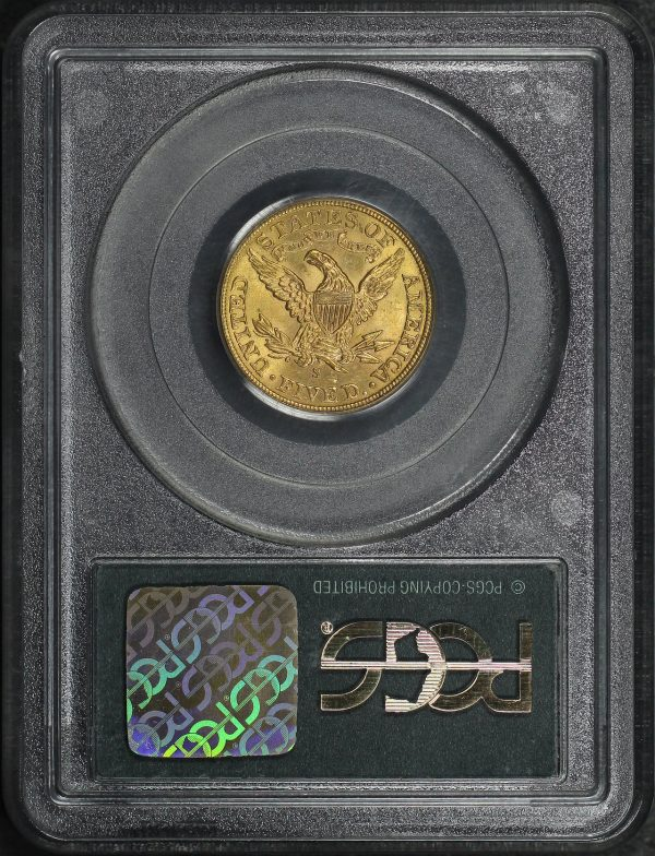 Reverse of this 1903-S Liberty Head $5 PCGS MS-61