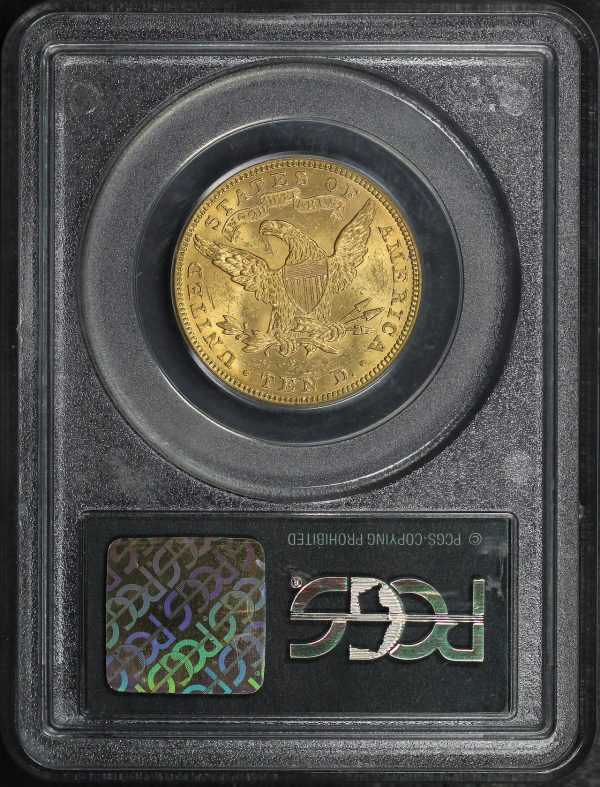 Reverse of this 1882 Liberty Head $10 PCGS MS-60