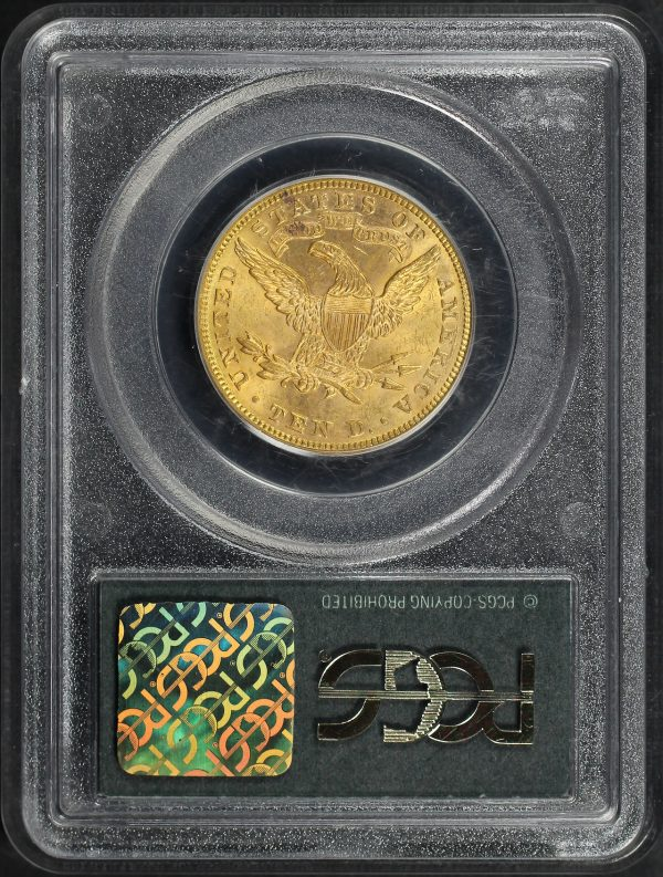 Reverse of this 1893 Liberty Head $10 PCGS MS-62