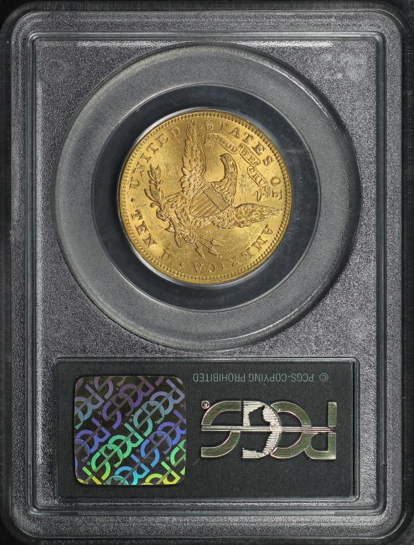 Reverse of this 1899 Liberty Head $10 PCGS MS-60
