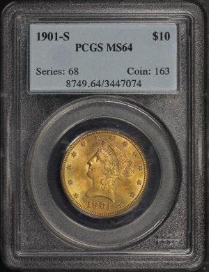 Obverse of this 1901-S Liberty Head $10 PCGS MS-64