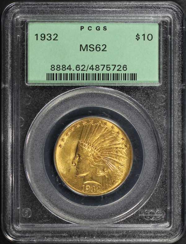 Obverse of this 1932 Indian $10 Motto PCGS MS-62