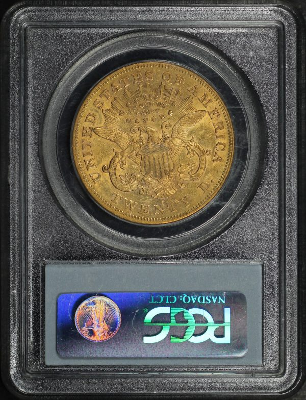Reverse of this 1874-S Liberty Head $20 PCGS XF-45