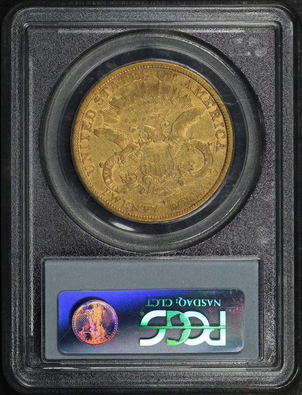 Reverse of this 1877-S Liberty Head $20 Type 3 PCGS XF-40