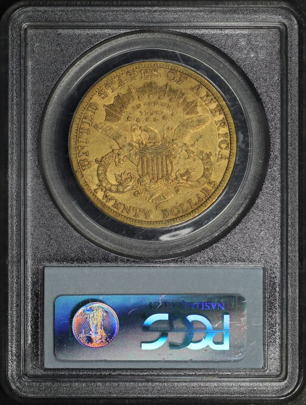 Reverse of this 1879-S Liberty Head $20 Type 3 PCGS XF-40
