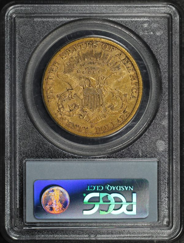 Reverse of this 1883-S Liberty Head $20 Type 3 PCGS XF-40