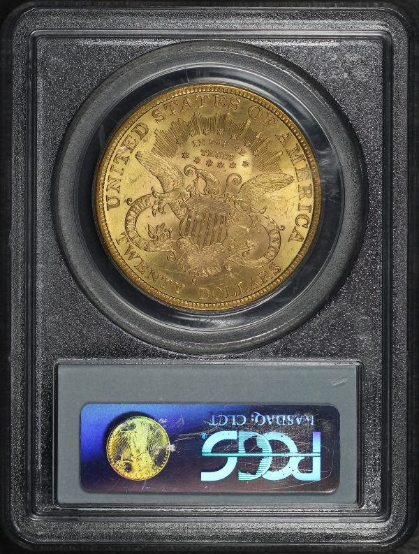 Reverse of this 1884-S Liberty Head $20 Type 3 PCGS MS-62