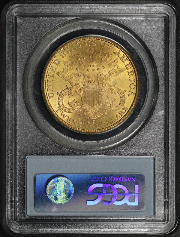 Reverse of this 1891-S Liberty Head $20 Type 3 PCGS MS-63