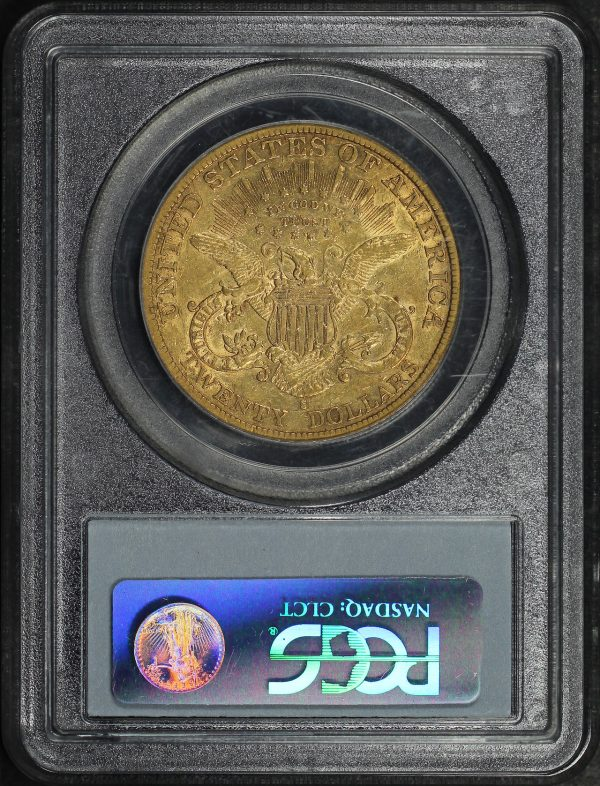 Reverse of this 1894-S Liberty Head $20 Type 3 PCGS XF-40