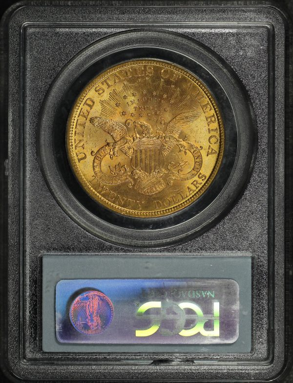 Reverse of this 1896 Liberty Head $20 Type 3 PCGS MS-62