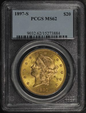 Obverse of this 1897-S Liberty Head $20 Type 3 PCGS MS-62