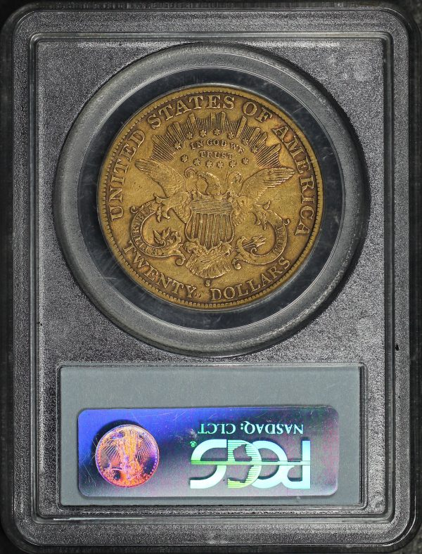 Reverse of this 1898-S Liberty Head $20 Type 3 PCGS XF-40