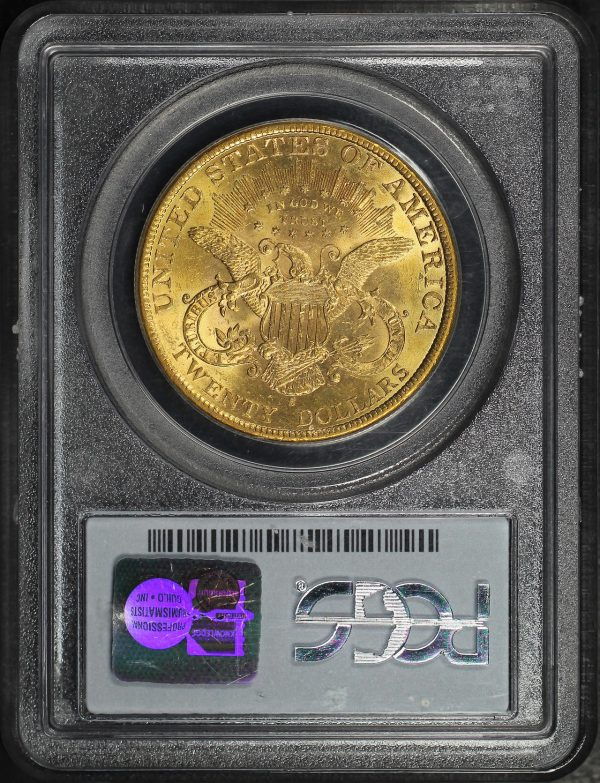Reverse of this 1899-S Liberty Head $20 Type 3 PCGS MS-61