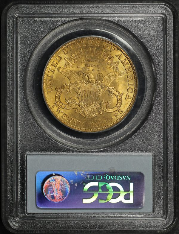 Reverse of this 1904 Liberty Head $20 Type 3 PCGS MS-62