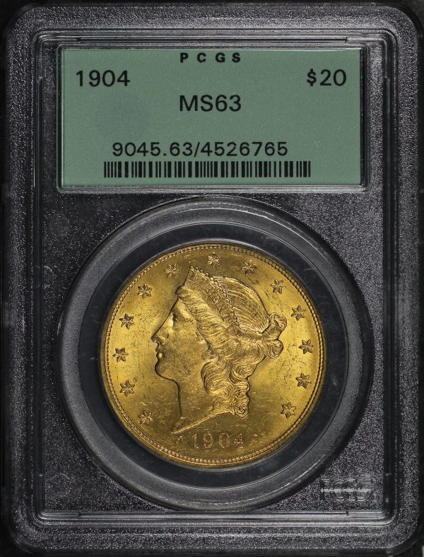 Obverse of this 1904 Liberty Head $20 Type 3 PCGS MS-63
