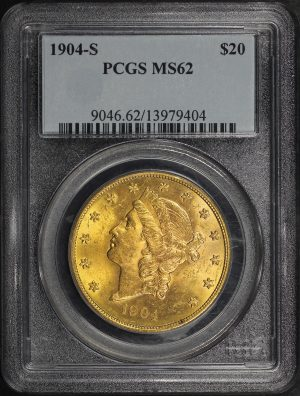Obverse of this 1904-S Liberty Head $20 Type 3 PCGS MS-62