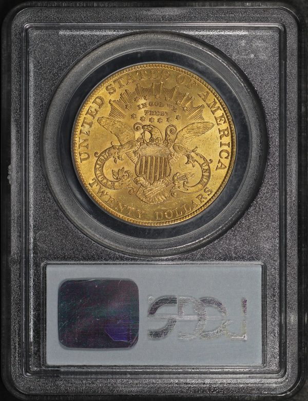 Reverse of this 1907 Liberty Head $20 Type 3 Liberty PCGS MS-62