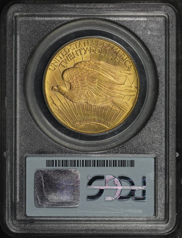Reverse of this 1924 St. Gaudens $20 PCGS MS-63