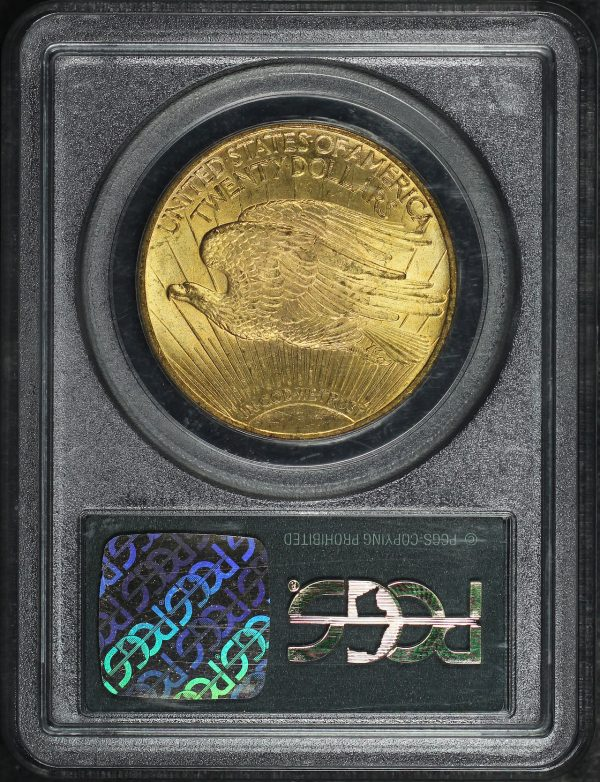 Reverse of this 1924 St. Gaudens $20 PCGS MS-64