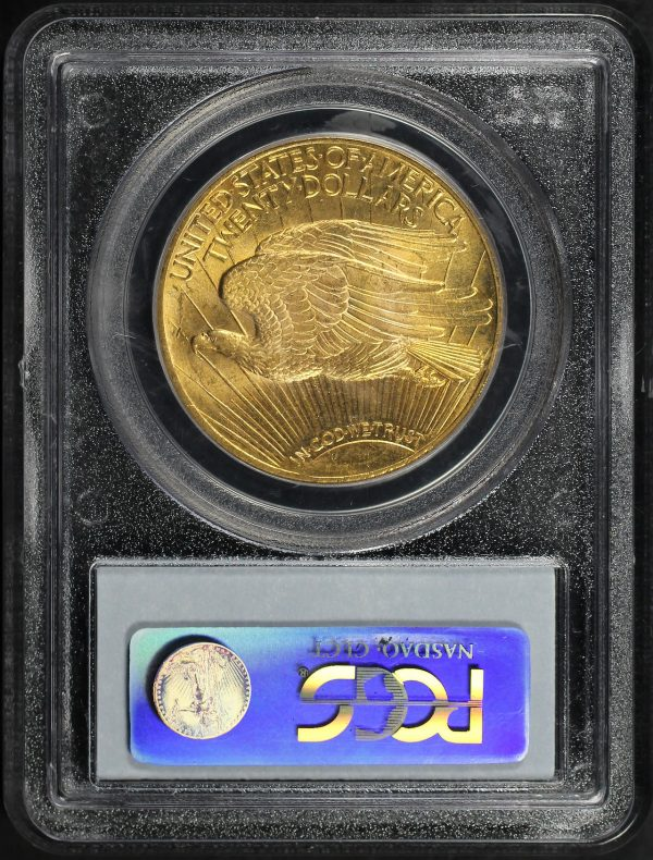 Reverse of this 1924 St. Gaudens $20 PCGS MS-65