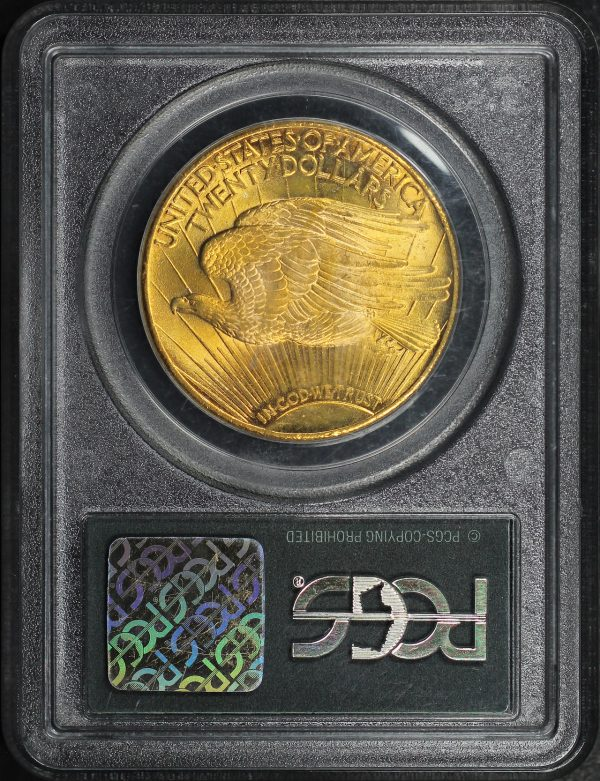 Reverse of this 1927 St. Gaudens $20 PCGS MS-65