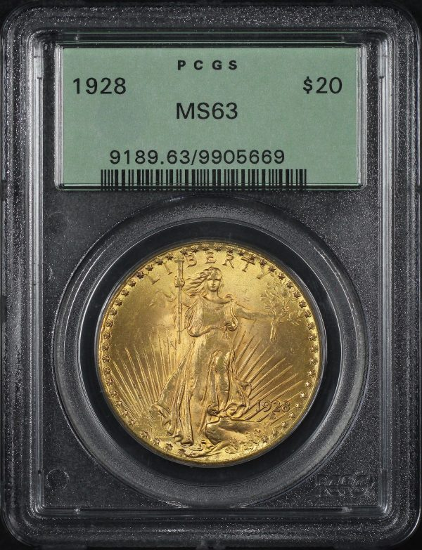 Obverse of this 1928 St. Gaudens $20 PCGS MS-63