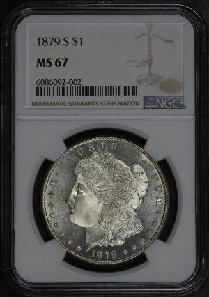 Obverse of this 1879-S Morgan Dollar NGC MS-67