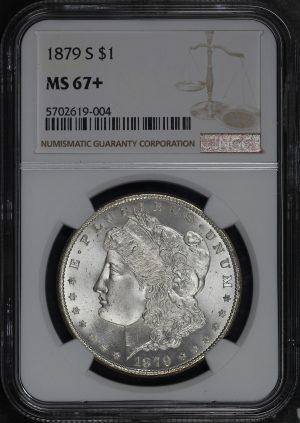 Obverse of this 1879-S Morgan Dollar NGC MS-67+