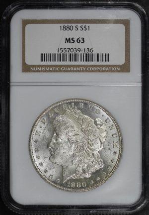 Obverse of this 1880-S Morgan Dollar NGC MS-63