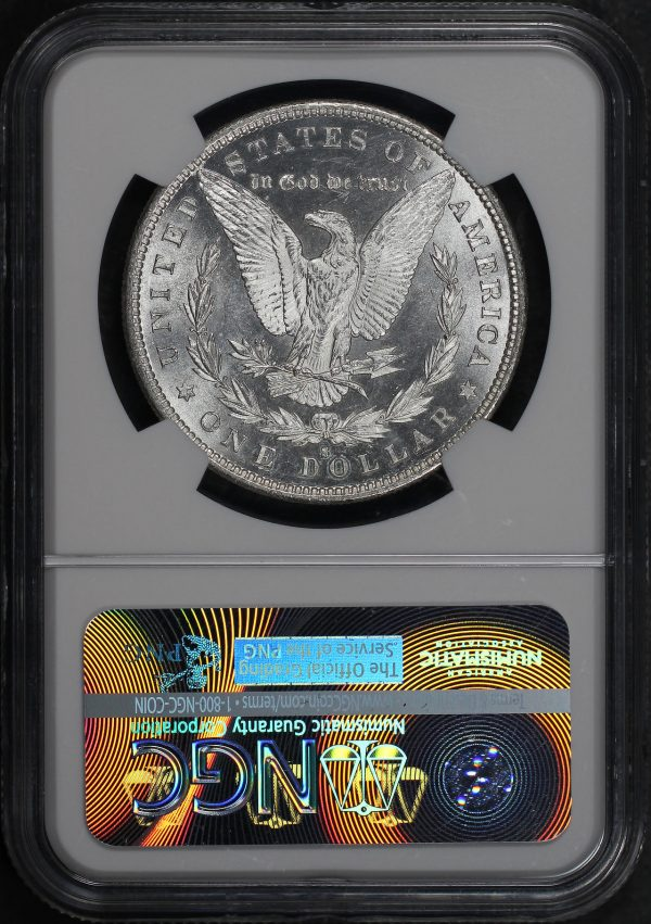 Reverse of this 1880-S Morgan Dollar NGC MS-65
