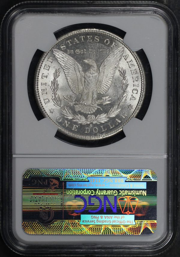 Reverse of this 1881-S Morgan Dollar NGC MS-63