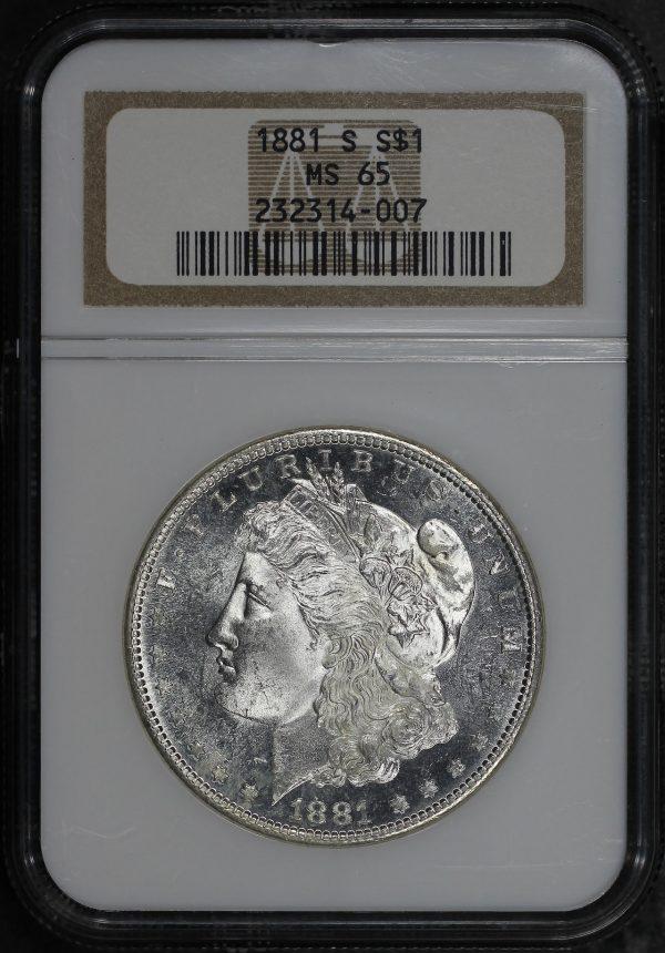 Obverse of this 1881-S Morgan Dollar NGC MS-65