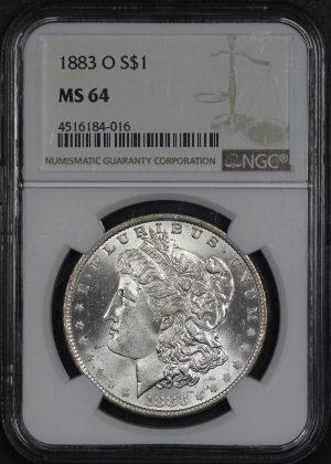 Obverse of this 1883-O Morgan Dollar NGC MS-64