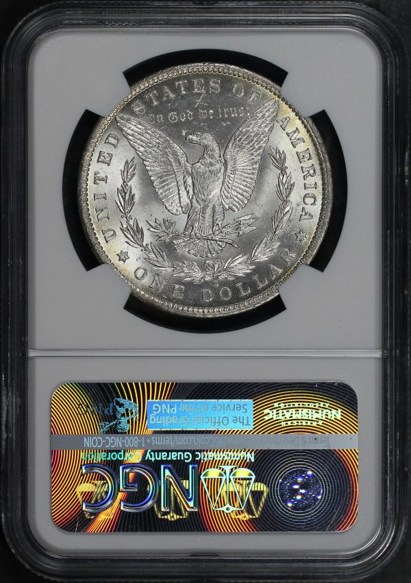 Reverse of this 1884-O Morgan Dollar NGC MS-65