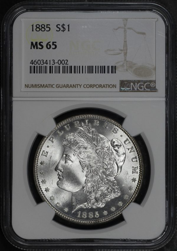 Obverse of this 1885 Morgan Dollar NGC MS-65