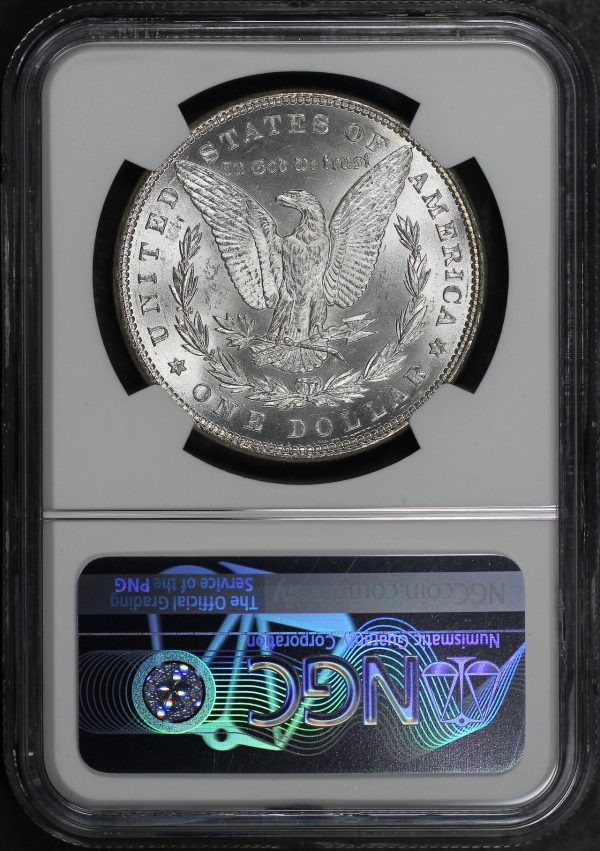 Reverse of this 1885 Morgan Dollar NGC MS-65
