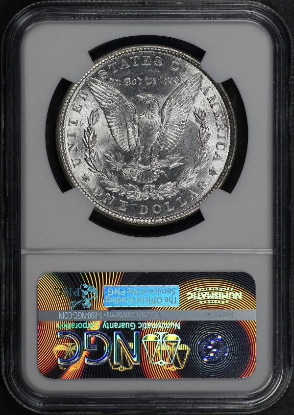Reverse of this 1886 Morgan Dollar NGC MS-65