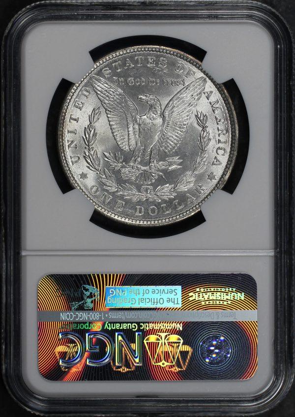 Reverse of this 1886 Morgan Dollar NGC MS-65