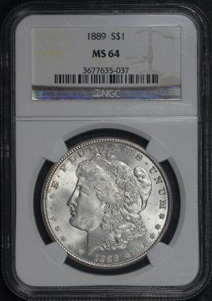 Obverse of this 1889 Morgan Dollar NGC MS-64