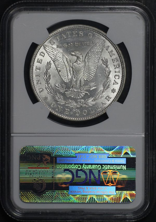 Reverse of this 1889 Morgan Dollar NGC MS-64