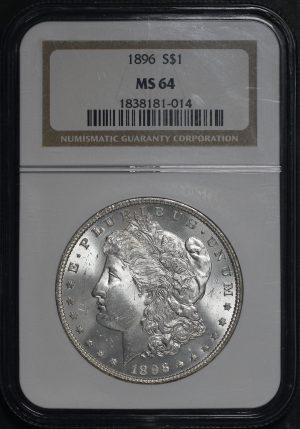 Obverse of this 1896 Morgan Dollar NGC MS-64