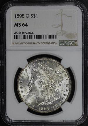 Obverse of this 1898-O Morgan Dollar NGC MS-64