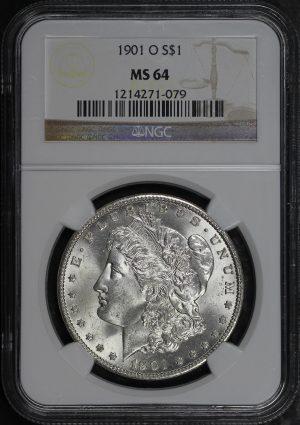 Obverse of this 1901-O Morgan Dollar NGC MS-64