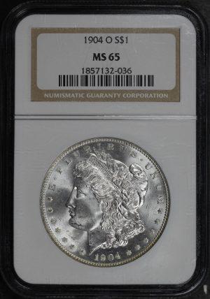 Obverse of this 1904-O Morgan Dollar NGC MS-65