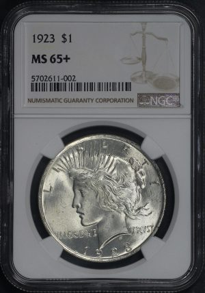 Obverse of this 1923 Peace Dollar NGC MS-65+
